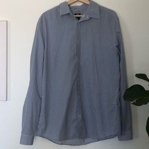 H&M Easy Iron Striped Button Up Shirt